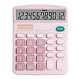 HUANGDANSEN Calculadora Calculadora Pantalla de 12 dígitos Oficina financiera Batería para Estudiantes Pantalla de energía Dual Solar Calculadoras básicas de Escritorio