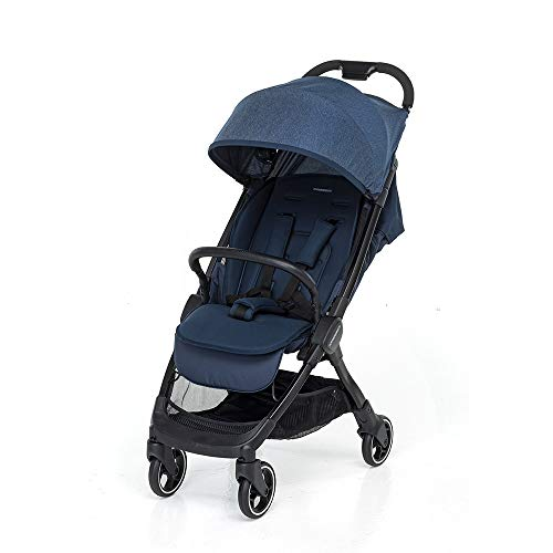 Foppapedretti Ciao Kinderwagen, kompakt, automatisch, Blau (Denim)