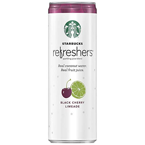 Starbucks, Refreshers with Coconut Water, Black Cherry Limeade, 12 fl oz. cans (12 Pack)