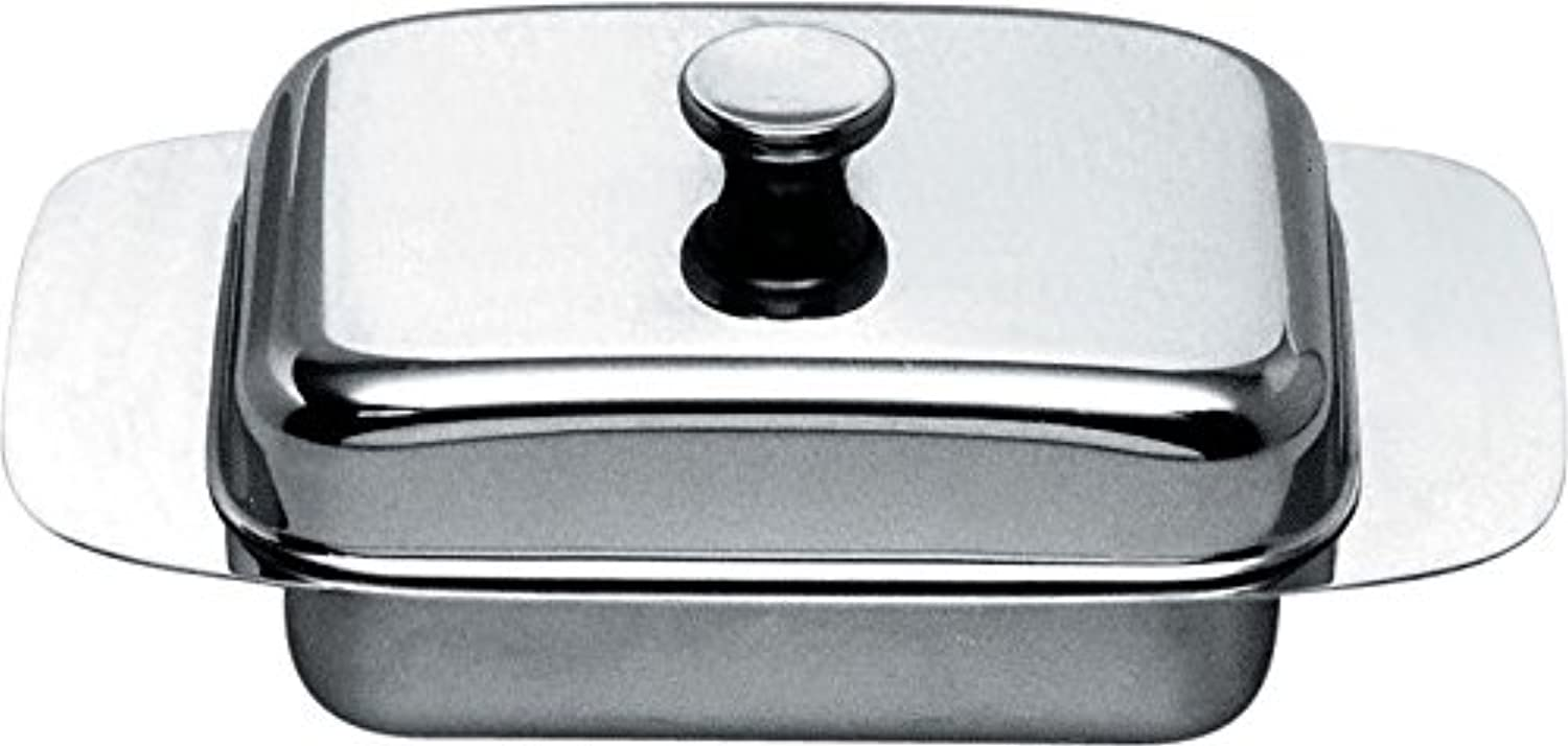 Alessi 137 Butter Dish, Silver