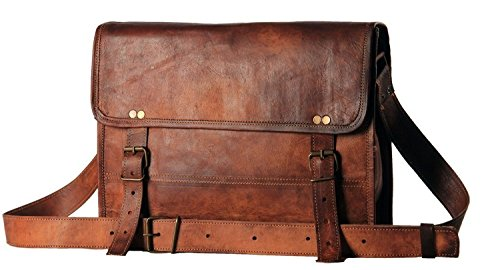 Handmadecart - Bolsas de piel auténtica para hombre