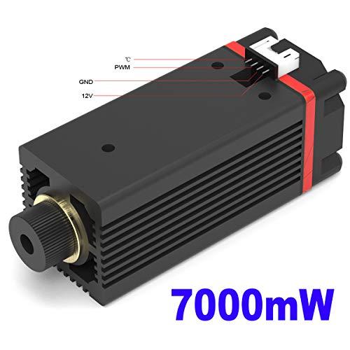 NEJE 7W Laser Engraver Module Head 450nm PWM TTL CNC DIY Blue Laser Engraving Module for NEJE Master DIY Laser Engraver Machine Replacement