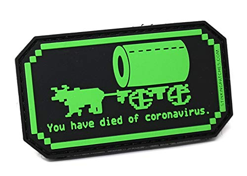 You Have Died of Coronavirus Covid-19 PVC Rubber Tactical Patch | Oregon Trail Inspired | Funny Morale Patch