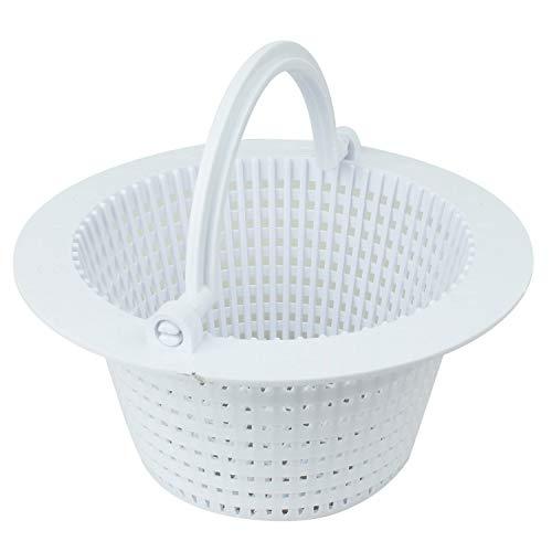 Linxor France ® Panier rond pour skimmer de piscine hors sol - Diam 16 cm - Blanc - Norme CE