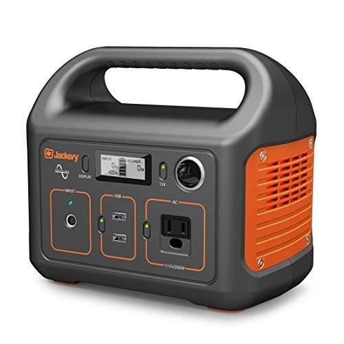 Jackery Portable Power Station Generator Explorer 240, 240Wh Emergency Backup Lithium Battery, 110V/200W Pure Sinewave AC Outlet,Solar Generator for Outdoors Camping Travel Fishing Hunting (Renewed)