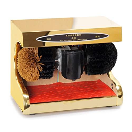 Máquina pulidora de zapatos Pulidora de zapatos de inducción automática portátil Estribo de pie de acero inoxidable multifuncional para pulidora de zapatos pequeña de inducción perezosa eléctrica (D)