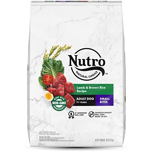 NUTRO NATURAL CHOICE Small Bites Adult Dry Dog Food, Lamb & Brown Rice Recipe Dog Kibble, 30 lb. Bag