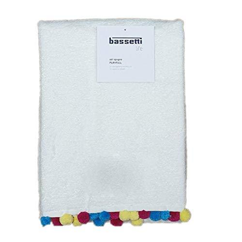 Asciugamano 60 X 110 Life Asciugamani 100/% Spugna di Puro Cotone Bassetti Set Spugna Coppia 2 Pezzi 1+1 Ospite 40 X 60 Hexagon - Bordeaux