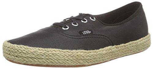 Vans Authentic Espadrille, Unisex-Erwachsene Sneakers, Schwarz (Leather/Black), 36 EU