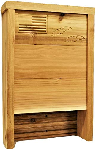 Applewood Outdoor Made in USA- New 2020 Version! Premium Bat House, Western Red Cedar, Ready to Install, Ideal Bat Shelter for Extremely hot to Warm climates, Cedar