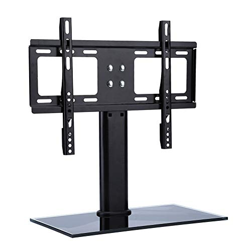 TabloKanvas Base de Soporte de TV Universal Soporte de TV de Pantalla Plana Fijo Soporte de Pantalla Escritorio TV Ajustable (Color : Black)