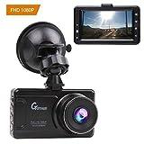 Auto Dash Cam 1080P Full HD Auto Video Recorder Obiettivo Grandangolare di 170 Gradi con Lente con Rilevatore 3 Pollici HD Display di Movimento, G-Sensor (Nero brillante)