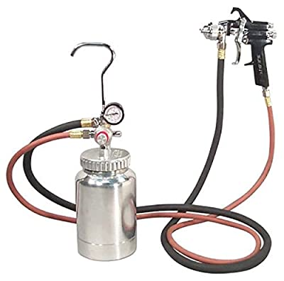 Astro Pneumatic Tool 2PG7S 2 Quart Pressure Pot with Gun and Hose - Black Handle - 1.2mm Nozzle