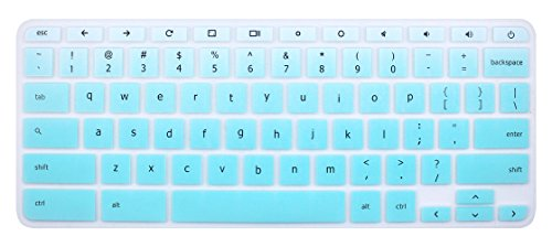 """Keyboard Cover Skin Compatible for 11.6"""" Lenovo Chromebook C330, 11.6"""" Lenovo Flex 11 Chromebook, 11.6"""" Lenovo Chromebook N20 N21 N22 N23 100e 300e 500e, 14"""" Lenovo Chromebook N42 N42-20 - Ombre Mint"""