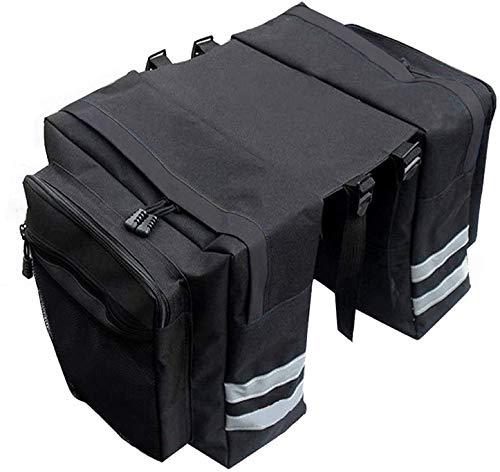 Sunshine smile fahrradtaschen gepäckträger,30L gepäcktaschen für Fahrrad,doppeltasche Fahrrad wasserdicht,fahrradtasche rücksitz,Tasche Fahrrad,Satteltasche,Radtasche (schwarz-1)