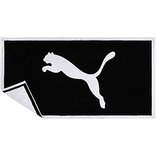 PUMA Towel Handtuch, Black White, UA