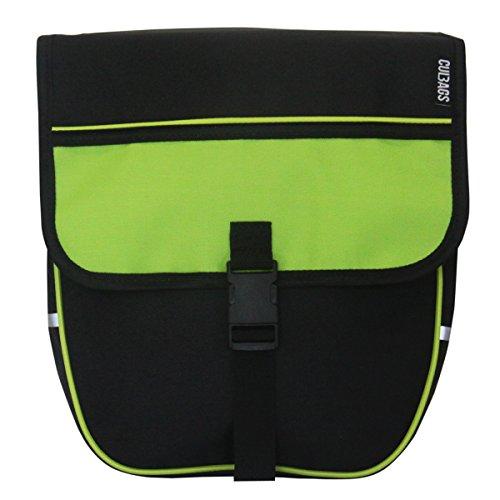 C-BAGS Heart Single Trekking Gepäckträger Fahrradtasche Verschiedene Muster (Green)