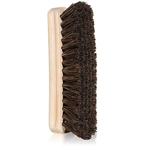 "Trolleycar 6"" Large Horsehair Shoe Shine Brush for Shoes, Boots, and Other Leather Items"