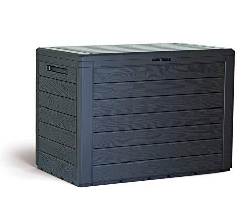 KG Kitgarden Kitgarden Coffre multifonction d'extérieur, capacité 78 x 44 x 55 cm, Marron, Multi Storage Box 190 L, 190 l