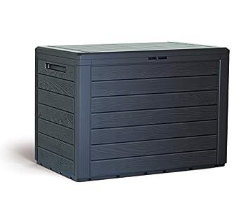 KitGarden Arcón Multiusos de Exterior, Capacidad, 78x44x55cm, Marrón, Multi Storage Box 190L