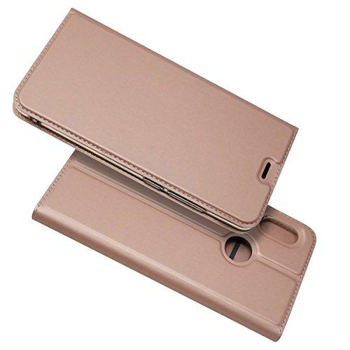 Zouzt Folio Flip Tarjeta teléfono Estuche Compatible con Xiaomi Redmi Note 5,Funda Ultra Delgada de Cuero PU con función de Cierre Magnético/Kickstand (Rose Gold)