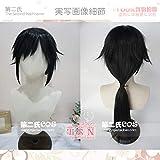 Photo de Cosplay Perruques Anime Destroyer Lame Colonne D'eau Tomioka Yoshiki Naturel Noir Cheveux Moelleux Cheveux Styling Cos Perruque par