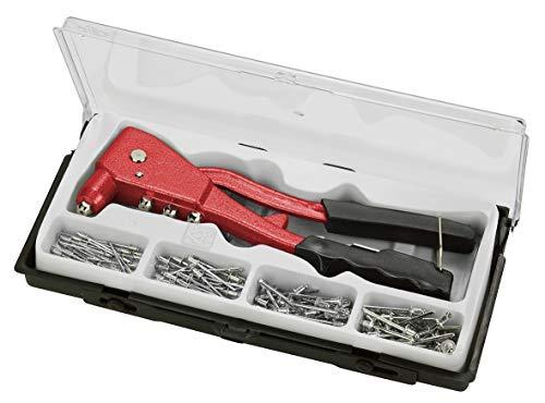 KWB blindklinknageltang set, niet-tang incl. 100 aluminium klinknagels, zware uitvoering met greepbescherming