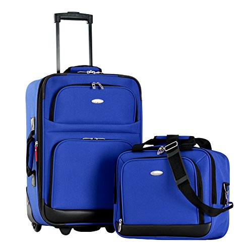 Olympia Let's Travel 2pc Carry-on Luggage Set, Royal Blue