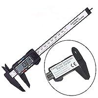 DIY工具 測定ツールのブラック/シルバー電子ノギス6インチ150ミリメートルLCDデジタルキャリパーマイクロメーターゲージ 耐久性と実用性 (Color : Black)