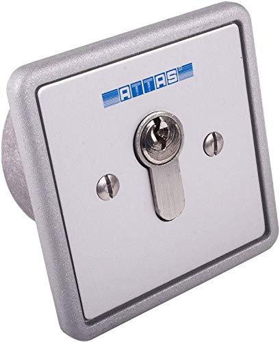 Schlüsseltaster einseitig tastend Unterputz, verschieden- und gleichschließend (Verschiedenschließend)