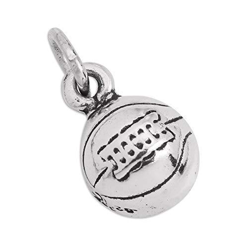 Sterling Silber Basketball Ball Charm Ohrhänger