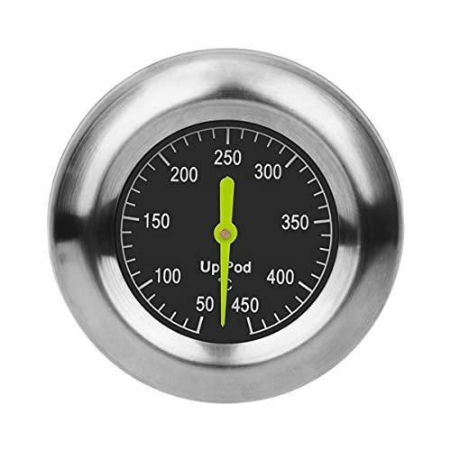 UPPOD Thermometer grillzubehör Thermostat Grill Thermometer für Smoker 8,9mm mit Rosette, Grillen, Backen (Big)