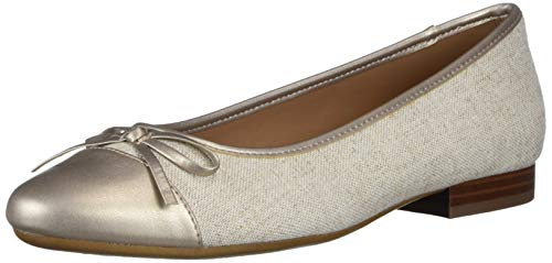 Aerosoles Women's Casual, Ballet, Flat, Linen Fabric, 7 Wide