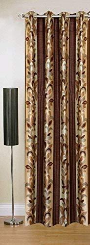 Home Utsav 1 Piece Abstract Polyester Window Curtain - 5ft, Brown (1, Window 5 Feet)