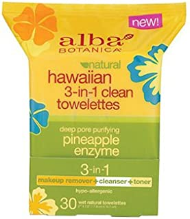 Alba Botanica Towelette Clean 3 In 1