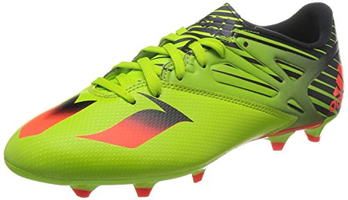 adidas Messi 15.3, Botas de fútbol para Hombre, Verde/Rojo/Negro (Seliso/Rojsol/Negbas), 45 1/3 EU