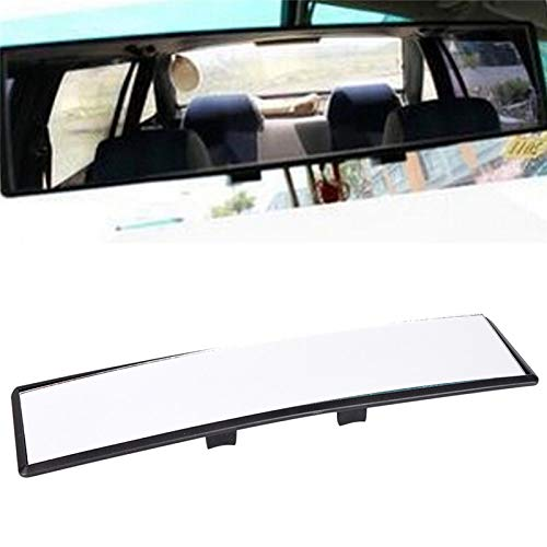 DIYEUWORLDL 1pc Car-Styling Panoramic Curve Convex Interior Clip On Rear View Mirror Universal 300mm