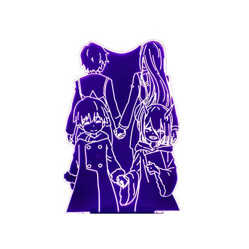 Darling in The Franxx Luz noturna de LED para decoração de quarto infantil, luz noturna, presente de aniversário, cabeceira, mesa 3D, Anime Waifu Zero Two