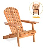 Giantex Adirondack Chair Wooden and Foldable...