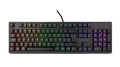 Teclado Gaming Ozone Alliance Híbrido Mecanico - Keyboard gamer - Switches híbridos CrossTech, 9 Efectos de Iluminación, Tecnología Reactiva, Silencioso,...