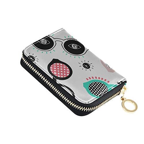 ID/creditCardHolder Gafas Accesorios de diseño Popular ZipperCardWallet Cuero de PU Zip-Around Tamaño...
