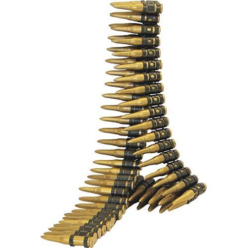 SMIFFYS Smiffy's Cartuccera, Oro 96 proiettili, 150 cm di Lunghezza Custodia per Fotocamera Panasonic per Adulti, Dorato, 25996