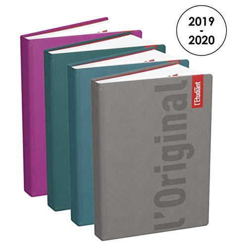 L'Etudiant 100738131 Original Agenda Journalier 2019-2020 de Août à Juillet Format 15 x 20cm Couverture Gomme Mousse Couleurs Aléatoires