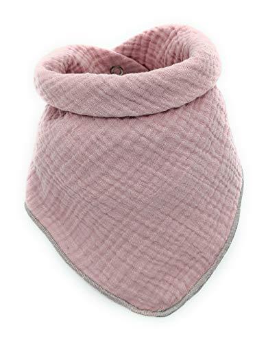 Halstuch Baby Musselin Baumwolle OEKO-Tex100,Mädchen&Junge, Erstausstattung bis 6 Jahre-Spucktuch saugstark,weich,lässig,einfarbig Dreieckstuch mit Druckknopf:Neugeborene Kleinkind Sabberlätzchen