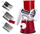 HWAAY Rotary Cheese Grater Shredder, 3 Drum Blade Manual...