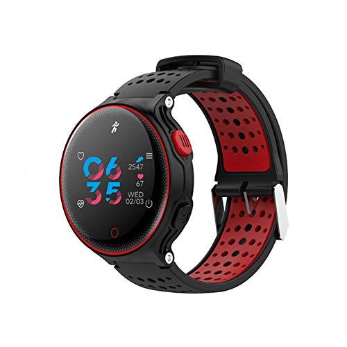 X2 Plus Smart Watch Bluetooth 4.0 IP68 Wasserdicht Berühren Sie Die Taste Bewegungsmelder Schrittzähler Schlaf/Herzfrequenz-Monitor,Black