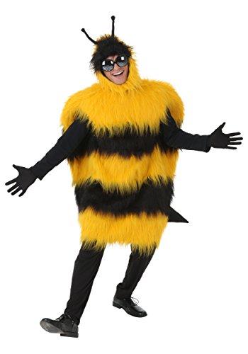 Disfraz de abejorro de lujo, talla grande. - amarillo - 4X