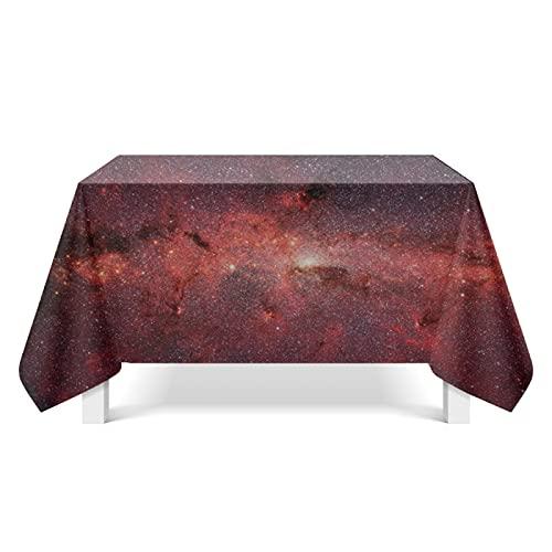 CYYyang Mantel Antimanchas, Prueba de Aceite Manteles para Bodas Fiesta Buffet Arte de Nebulosa Brillante