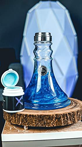 Xschischa シーシャ用 カラーパウダー ラメ入り 水タバコ Hookha ドイツ 50g 全12色 (ブルー)