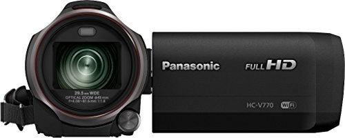 Panasonic HC-V770EG-K Videocamera Full HD, Wireless Twin Camera, Grandangolo 29.5 mm, Tecnologia Video HDR, Nero
